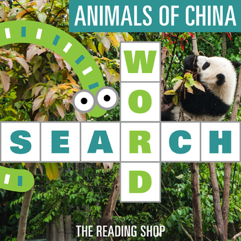 Animals of China Word Search - Primary Grades - Wordsearch Puzzle