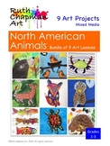Animals of North America: Bundle of Art Lessons for Grades 1-3