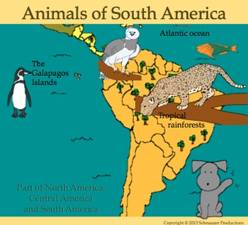 Animals of South America in English by Pepper
