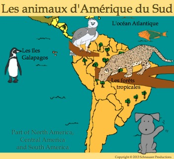 Animals of South America with French by Pepper
