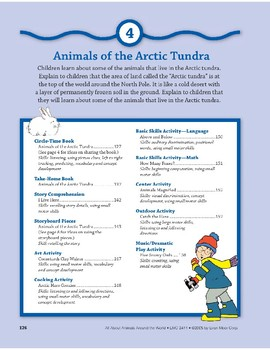 Animals of the Arctic Tundra: Language and Math Activities