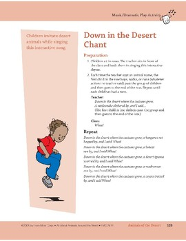 Animals of the Desert: Outdoor Activity and Dramatic Play Activity