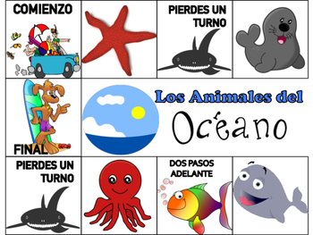 Animals of the Farm, Ocean & Jungle Spanish Board Games