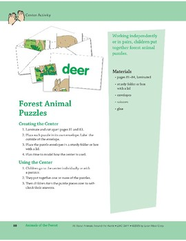 Animals of the Forest: Center Activity