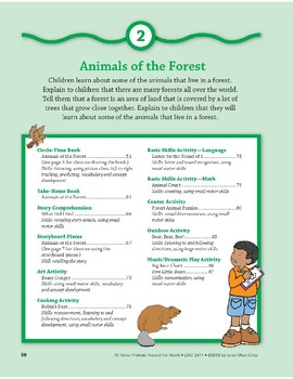 Animals of the Forest: Language and Math Skills