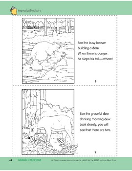 Animals of the Forest: Take-Home Book