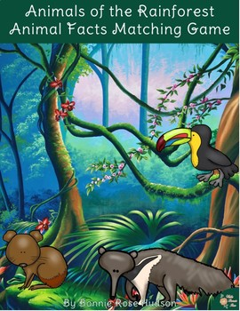 Animals of the Rainforest: Animal Facts Matching Game