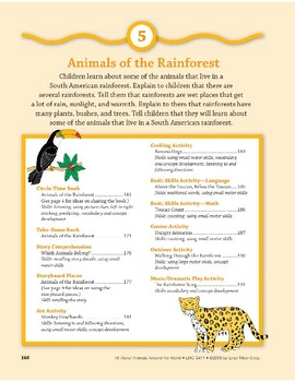 Animals of the Rainforest: Language and Math Activities