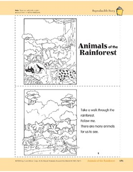 Animals of the Rainforest: Take-Home Book