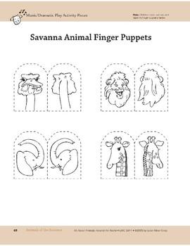 Animals of the Savanna: Safari Walk and Dramatic Play