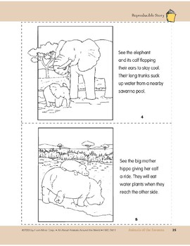 Animals of the Savanna: Take-Home Book