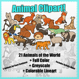 Animals of the World Clipart Pack