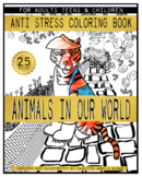 Animals of the World : Coloring Book