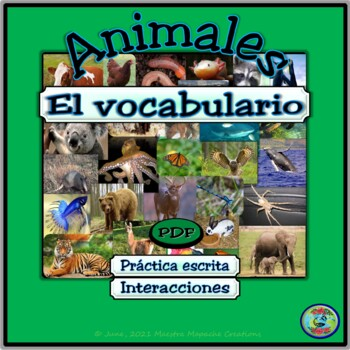 Animals of the World Vocabulary  - Vocabulario de animales del mundo