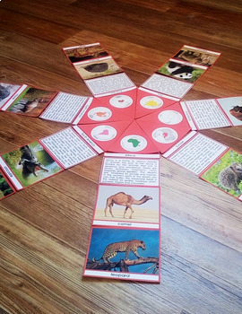 Animals of the continents circle puzzle