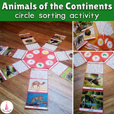 Animals Continents Circle Montessori Sorting Activity