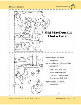 Animals on the Farm: Take-Home Book