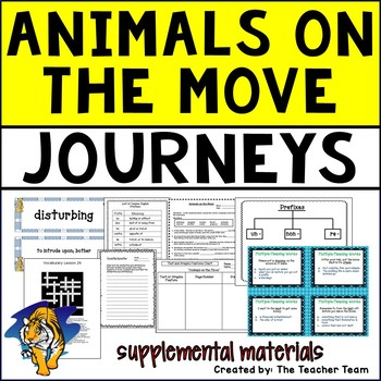 Animals on the Move Journeys 5th Grade Unit 6 Lesson 26 Activities & Printables