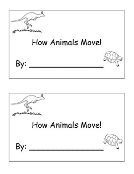 Animals on the Move Writing Book