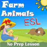 Animals on the farm for ESL kids No-Prep