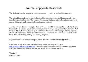 Animals opposite flashcards