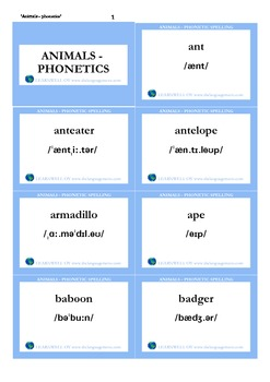 Animals - phonetics_cards