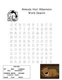 Animals that Hibernate Word Search