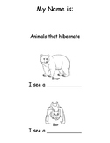 Animals that Hibernate writing booklet