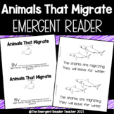 Animals that Migrate Emergent Reader/Printable Book Guided Reading Groups