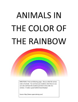 Animals the Colors of the Rainbow