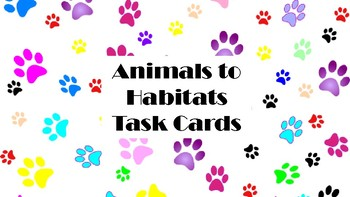 Animals to Habitats Task Cards (Clothes Pins)