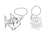Animals to color and empty dialogue bubbles (#4)