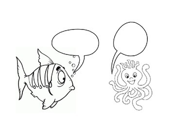 Animals to color and empty dialogue bubbles (#100)