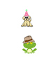 Animals wearing Hats Clipart