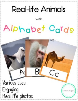 Animals with Alphabet Cards