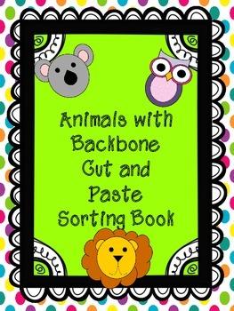 Animals with Backbone Book (Vertebrates)- Cut-Paste-Classify