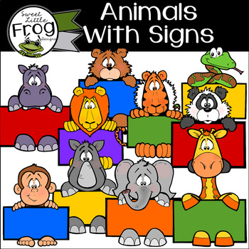 Animals Clip Art with Signs