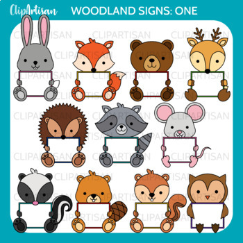 Animals with Signs Clip Art