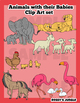 Animals with their babies Clip Art set