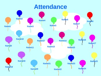 Animated Balloon Attendance