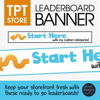 Leaderboard Banner Design • TPT Banner Design • TPT Shop Makeover