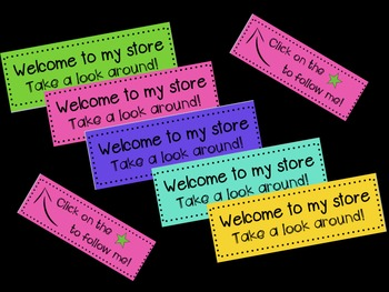 Animated Banner for TPT Sellers- Funky Colours