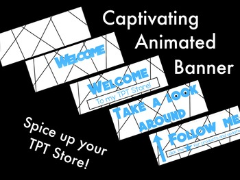 Animated Banner for TPT Sellers - Blue Type