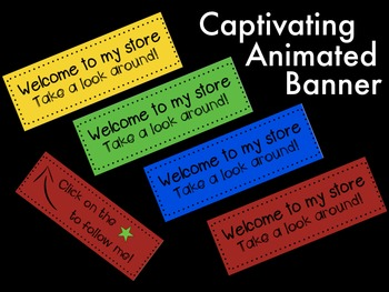 Animated Banner for TPT Sellers- Funky Colours 2