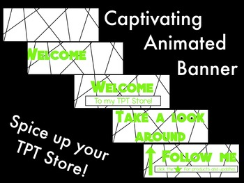 Animated Banner for TPT Sellers - Green Type