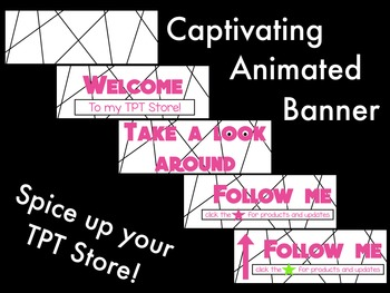 Animated Banner for TPT Sellers - Pink Type