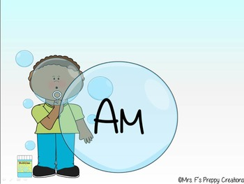 Animated Bubble Blowing Sight Word Warm Up ( Primer list)