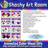 Moving Color Wheel Gifs- Copy & Paste into your presentati
