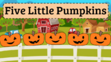Animated Five Little Pumpkins PowerPoint (with Editable Poem)