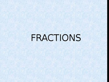 Animated Fractions Introduction